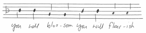 music sheet for you will blossom